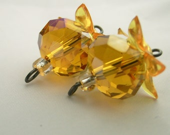 Beaded Topaz Earrings