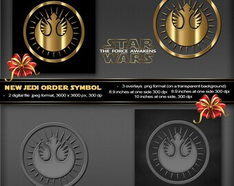 New Jedi Order Symbol, Star Wars The Force Awakens Movie, Logo, poster, printable, greeting card, stationery, tags, boy birthday invitation