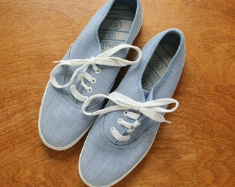 Vintage Denim Sneakers, Denim Color, Size 5, 80s Shoes, Vintage Keds