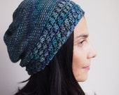 Crochet pattern knit look slouch hat woman star stitch hat beanie beret , Instant download