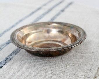 SALE vintage silver plate bowl, serving dish