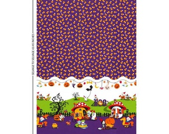 Michael Miller. Nightmare in Gnomeville - Cotton fabric BTY - Choose your cut