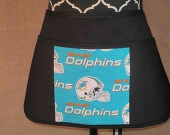 New!!! NFL Miami Dolphins Handmade Half-apron 3 pockets