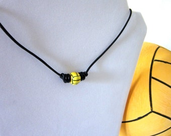 Water Polo Ball Leather Necklace - Gift Wrapped
