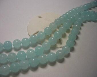 Sale, Amazonite beads 8mm, round gemstone beads, full strand, blue amazonite beads, light blue Amazonite, 8mm beads, 8mm gemstone beads