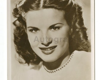 Jean Peters - Classic Actress - Vintage Real Photo Postcard (rppc)