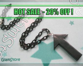HOT SALE Black Echelon Arrow Necklace