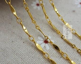 Bulksale-Gold bar chain-20 feet fabulous chain-brass chain-F78jin