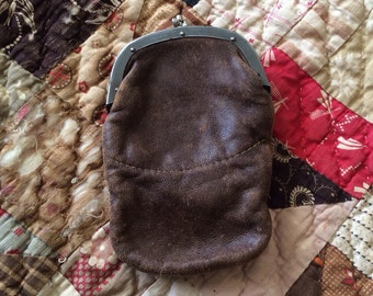 A Great Little Antique Leather Coin Purse