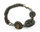 Natural Stone Jewelry (Reversible Gray River Rock Bracelet for Geology or Nature Lover)
