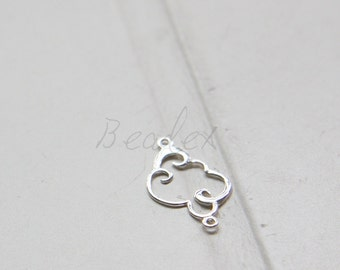 One Piece / S925 Sterling Silver / Connector / Cloud (4166)