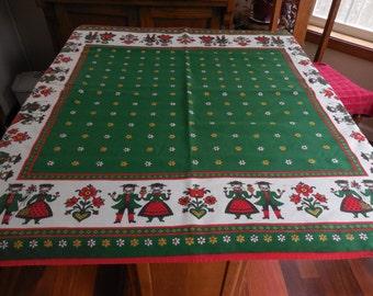 Vintage Tablecloth Table Topper Scandinavian Swedish