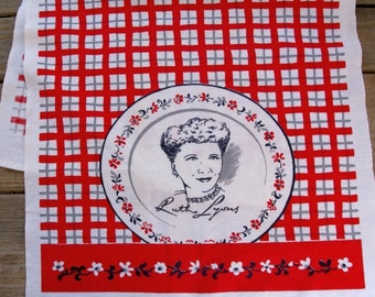 1950s Vintage RUTH LYONS tea towel by Startex