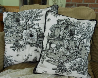 Cottage Chic Toile Pillow