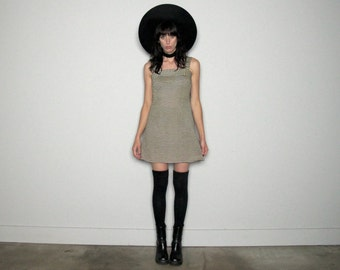 STRIPE Mini DRESS Mod Grunge Shift 60s Womens Size S/M