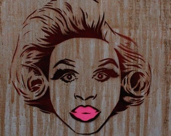 Rupauls Drag Race Painting 11x15 Bob The Drag Queen Art Original Artwork Stencil Art Pop Art Gay Art Stencil Tag Spray Paint Baksy Print