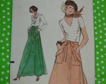 Vintage Pattern,Vogue No.9194 Wrap Skirt, 2 Lengths, Size 26 1/2, Uncut