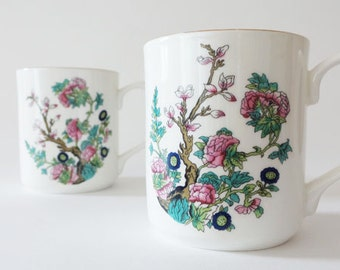 Vintage Indian Tree Fenton Bone China England Cups