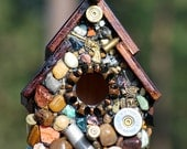 Recycled Bullet Shell Birdhouse for Hunters Oregon handmade man cave decor guns firearms durable outdoor bird house small birds Eco friendly