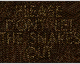Please Don't Let The Snakes Out Doormat / Floor Mat