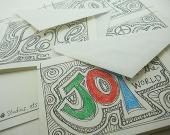 set of 10 ENVELOPES to be used with print-and-color holiday cards; this listing is just for the envelopes, not the cards