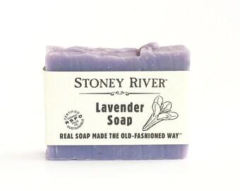 lavender  Natural Soap, Handmade Soap,  Cold Process Soap, Oily Skin Soap, Vegan Soap