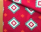 KNIT, Aztec Hot Pink Knit, Riley Blake Knits, Cotton Spandex, Stretchy Fabric