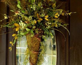 Woodland Wedding Wreath , Summer Wreath , Spring Wreath , Woodland Wreath , Fern Wreath , Front Door , Primitive Wreath ,Year Round