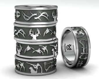 Hunting couple, Sportsmans ring.
