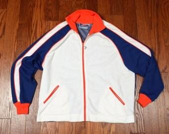 vintage 60s 70s track jacket red white blue jacket Speedo White Stag Japan warm up jacket athletic extra large XL