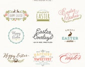 Easter Overlay design elements - for personal or photography use - Easter Clip Art