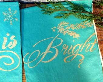 All is Calm, All is Bright Banner. All is Calm, All is Bright Garland. Holiday Banner.