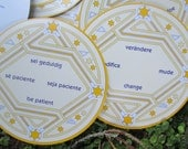 Round The Sun-Cards Daily Affirmation/Tarot Style Cards.  Original Tin Container and Original Instructions. Made in Germany.  Y-197