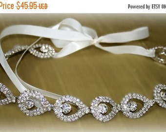 ON SALE Rhinestone Bridal Headband- ELSIE- Wedding Headpiece, Rhinestone Headband, Bridal Headpiece, Hair Accessories