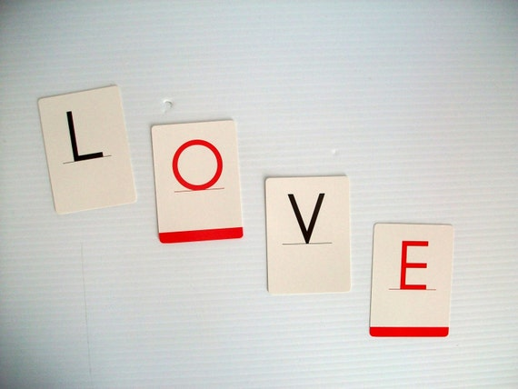 Items similar to letters spell LOVE | valentine letter ...