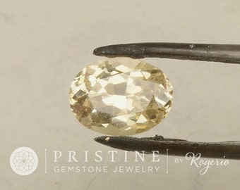 Champagne Yellow Sapphire Oval Shape for Custom Engagement Ring or Fine Sapphire Jewelry September Birthstone