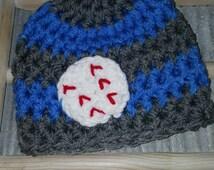Baby Boy Baseball Softball Hat Crochet Newborn Slugger Sports Beanie Boy Girl 0-3 3-6 6-12 Toddler Mos Months Infant Sport