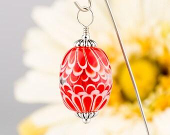 Red & White Carousel Pendant