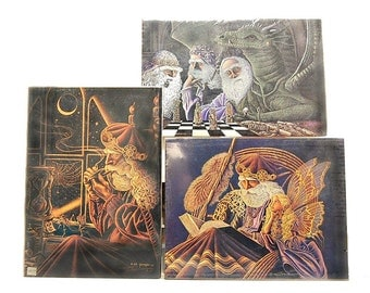 1980s Ed Gedrose Prints Of Wise Wizards Thoughtful Dragon Elven Fairies 80s Vintage Fantasy Art Lovely Dreamscapes Mythological Arts
