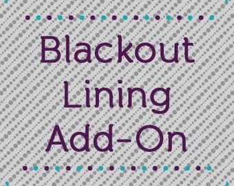 Blackout Lining Add-On for Custom Curtains and Drapes