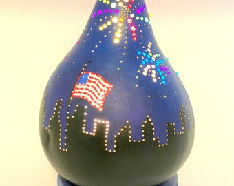 Gourd Lamp - Fireworks in the City