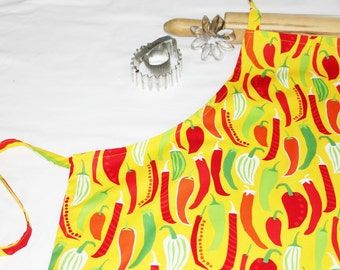 Chili Peppers Adult Apron
