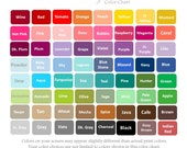 Little Pergola Color Chart-Printed and shipped