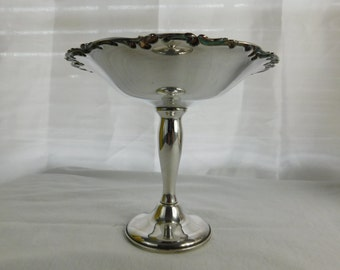 Vintage Gorham EP Silver Pedestal Compote Candy Serving Dish YC 1566   Box W