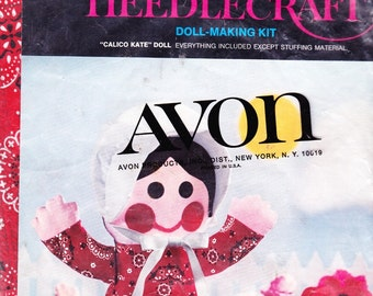 Avon Doll Making Kit Red Dress and Bonnet New in Package