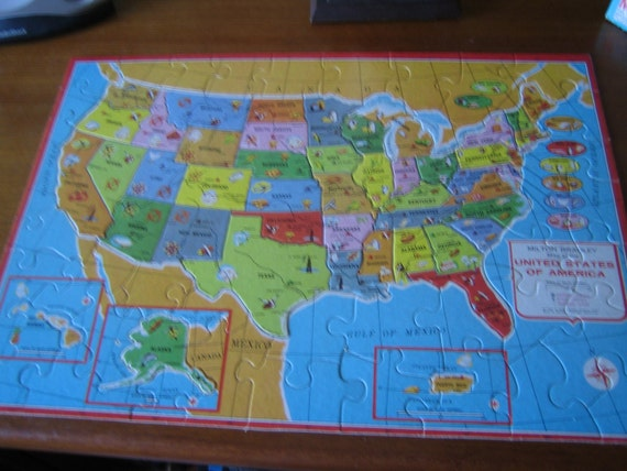Bradley (IL) United States  city photo : 1975 Milton Bradley Double Sided United States by quirkyshop