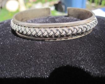 Braided Sterling Cuff Bracelet