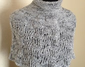 Hand Knitted Capelet.Knitted Shoulder Cozy. Knit Shawl.