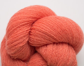 Coral Cashmere Lace Weight Recycled Yarn, 2737 Yards Available