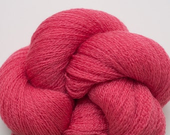 Rose Coral Recycled Merino Yarn, 2527 Yards Available, Lace Weight Merino
